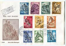 1962 FDC San Marino Sport Alpinistici First Day Cover