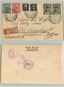 Czechoslovakia-1937-cover-Bratislava-to-Chicago-used-d7227