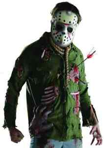 Halloween Costume Jason Friday 13th.Details About Jason Voorhees Friday 13th Killer Fancy Dress Up Halloween Deluxe Adult Costume