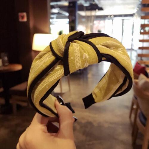 Womens~Headband~Twist Hairband Bow KnotCross Tie Velvet HeadwrapHairBand~Hoop gz