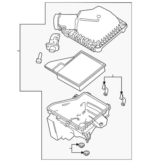 Buy Ford Br3z9600c Genuine Oem Air Cleaner Assy Online