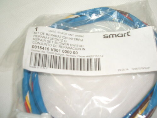 452 Genuine Smart Roadster Heater Blower Switch Repair Wiring Harness Q0015415