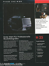 Prospekt Phase One H25 Digitalback Mittelformatkameras 9/03 D brochure Broschüre