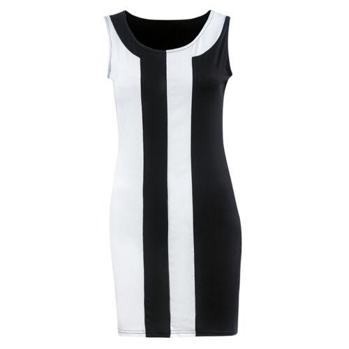 Damen Ärmellos Kleider Sommerkleid Strandkleid Etuikleid Partykleid Abendkleid