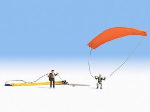 Copieux Encore 15886 H0, Paraglider, 2 Personnages, Peintes à La Main, Neuf-afficher Le Titre D'origine