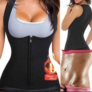 4ecd2dbb43b Women Neoprene Sauna Sweat Waist Trainer Vest With Zipper For Weight ...