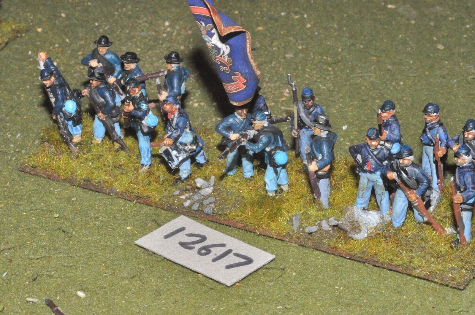 25mm ACW   union - american civil war infantry plastic 17 figs - inf (12617)