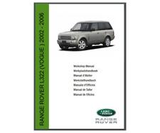Range Rover L322 • Land Rover Workshop Service & Repair Manual 2002 - 2006