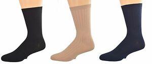 Sierra-Socks-Big-Boys-039-Casual-Dress-Uniform-Rib-3-Pair-Pack-Crew-Socks-K263-3007