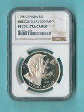 CANADA $1 1995 HUDSON'S BAY COMPANY NGC PF-70 ALL PCKG INC
