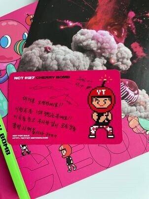 Nct 127 : CHERRY BOMB ALBUM Yuta Photocard, andet