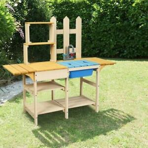 Outdoor Wooden Pretend Cook Mud Kitchen Playset Toy For Toddlers Children Ebay