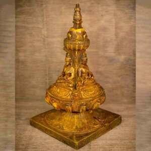 Four-Faced-Buddha-Stupa-Plain