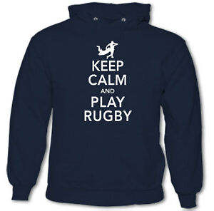 KEEP-CALM-amp-play-rugby-Divertente-da-uomo-felpa-con-cappuccio