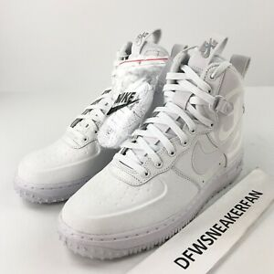 Details about Nike ID Air Force 1 High Men's 8 Winter White Sneaker Boots CK1210 110 New