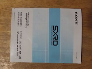 sony sxrd projection tv owners manual silicon x tal kds r50xbr1 rh ebay com sony kds-r50xbr1 manual sony kds-r60xbr1 user manual