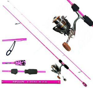 Skorpion ultra light Angelset pink Lizard PKS 2000 und Spoon Checker 210cm Rute