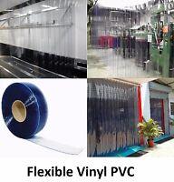 Plastic Strip Curtain Pvc Door Freezers Room Storage Clear 100' Roll - 12 Wide