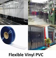 Plastic Strip Curtain Pvc Door Freezers Room Storage Clear 100' Roll - 12 Wide