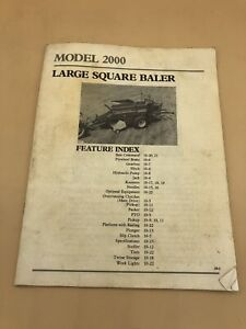 New-Holland-2000-Large-Square-Baler-Operators-Manual-Feature-Index-Section