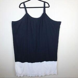 Ulla-Popken-Cotton-A-Line-Fit-Sundress-Dress-Black-White-Size-32-34-5X-6X
