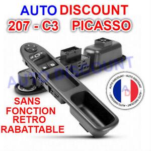 Bouton-leve-vitre-electrique-avant-commande-retroviseur-Peugeot-207