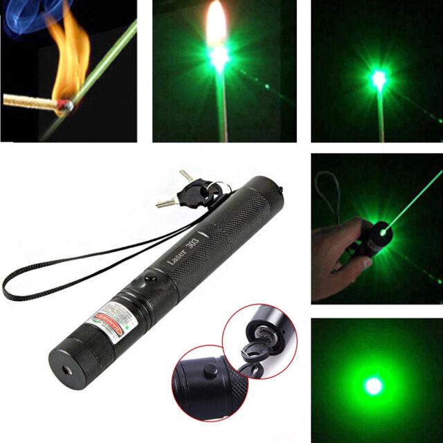 2pc Military Green 303 532nm Pointer Laser Lazer Pen Beam Light Adjustable Focus