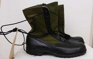 Tropical-Jungle-Combat-Boots-Vietnam-10N-NOS-6-1967-Vibram-Spike-Resistant-CIC