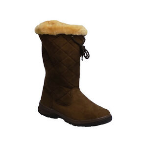 Itasca CUPID Womens Brown Slip On Comfort Warm Lined Winter Snow ...