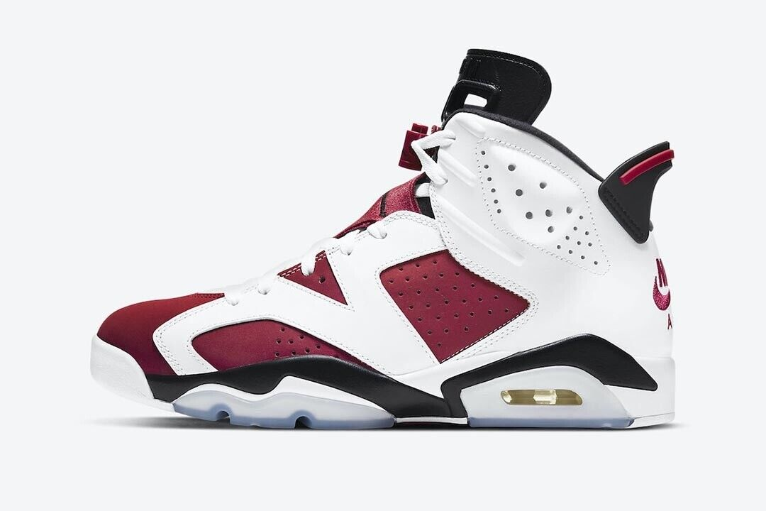 Nike Air Jordan 6 Retro Carmine UK 8.5 Exclusive Access! 🔴Trusted Seller 🔴