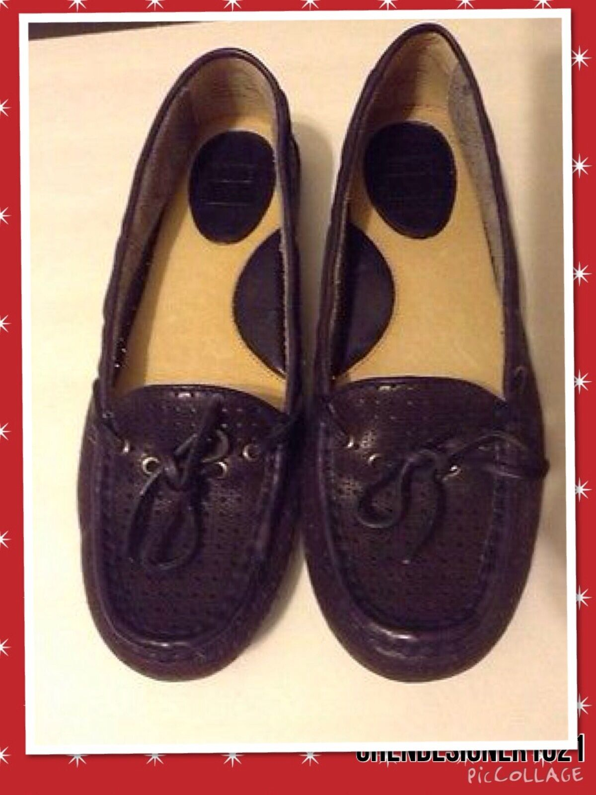 New FYRE 6.5,8m US REAGAN PERFORATED PERFORATED PERFORATED DRIVER DK PURPLE LTHR LOAFERS 2a05ae