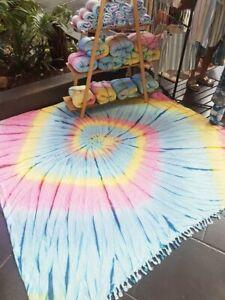 Turkish-Cotton-Large-Towel-Beach-Blanket-Tie-Dye-Outdoor-Family-Size-Blanket