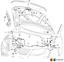 NEW Genuine VW Passat CC 06-15 09-16 avant RHD Ouverture Capot Serrure à Câble