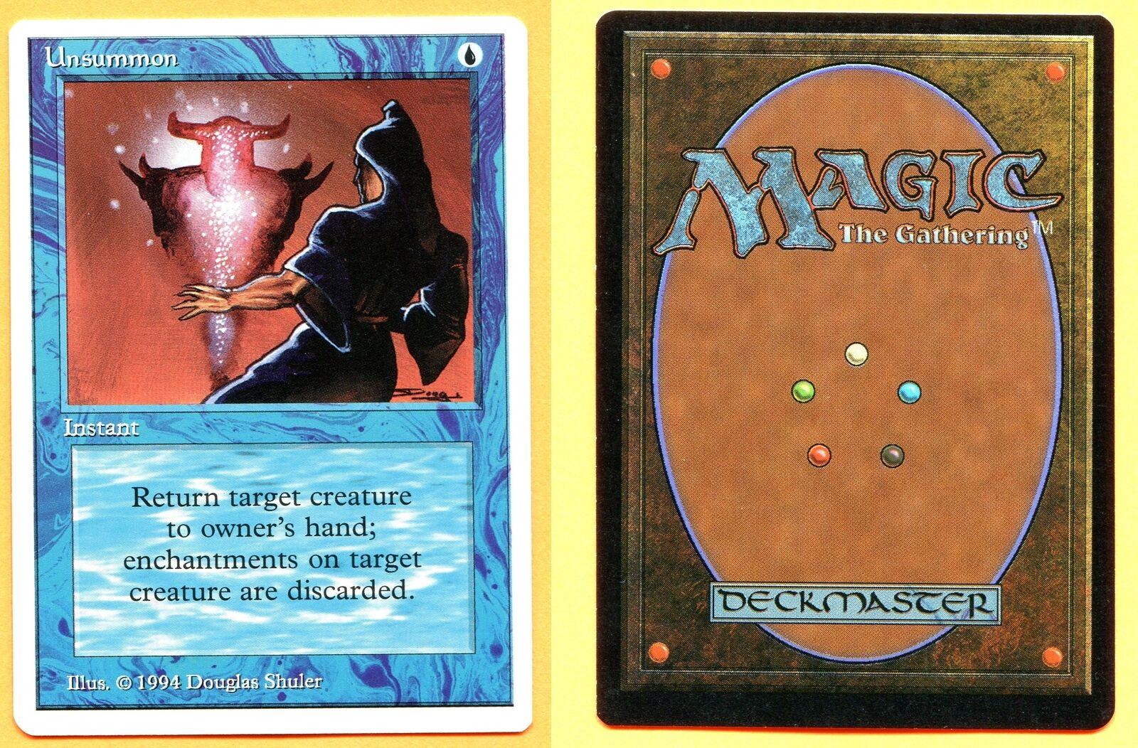 Unsummon (Summer Magic (Edgar)) MTG CCGHouse Magic Magic Magic 1e28ec