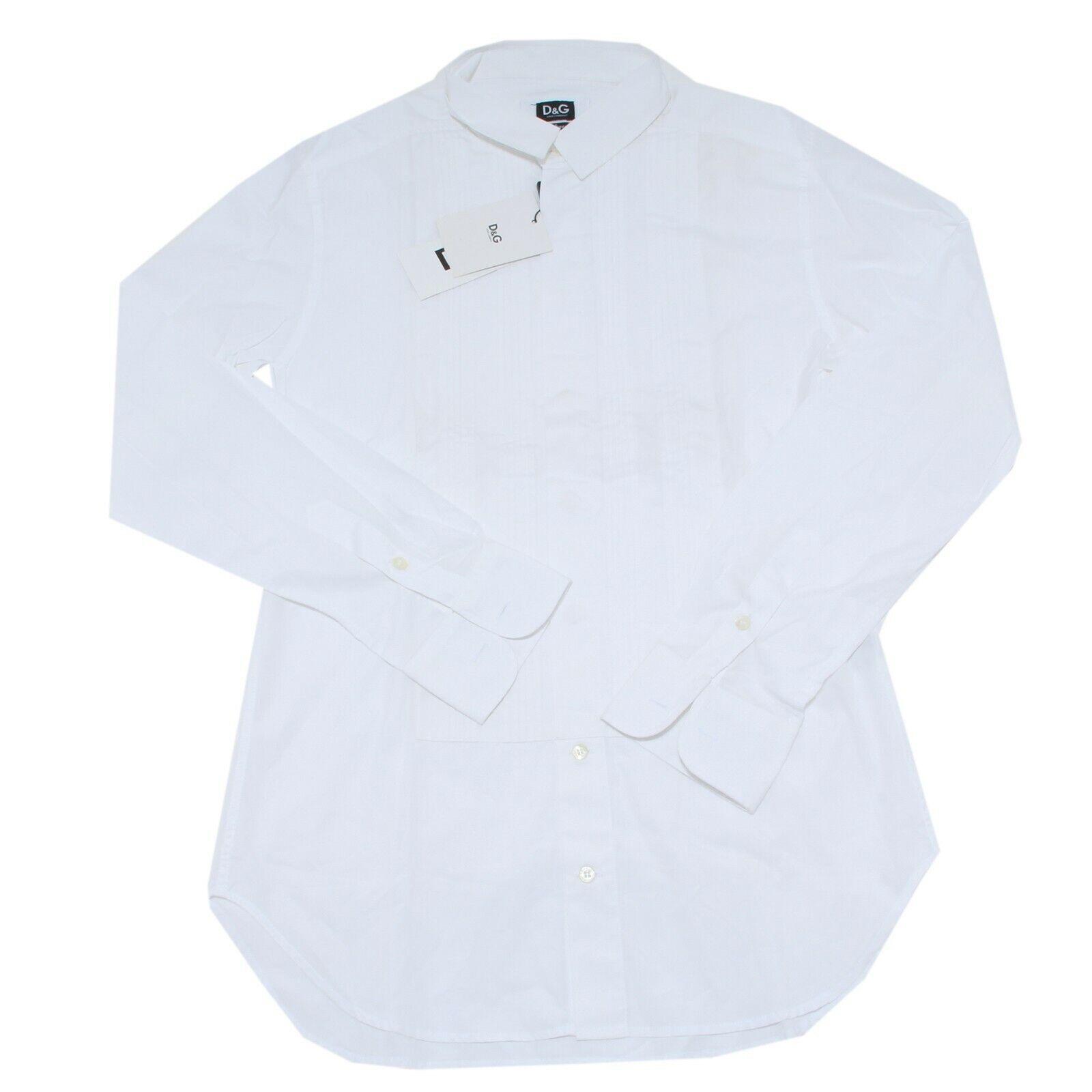 20996 camicia D&G CON rosso PIEGHE DAVANTI uomo shirt Uomo  SENZA GEMELLI