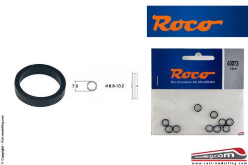 H0 1:87 ROCO 40073 Set 10 anelli aderenza ricambio gommini ruote da 8,8//10,2