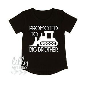 Promoted To Big Brother T-Shirt Pregnancy Announcement Shirt Kenworth Mack