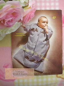 Image Is Loading Vintage Knitting Pattern Baby 039 S Sleeping Bag