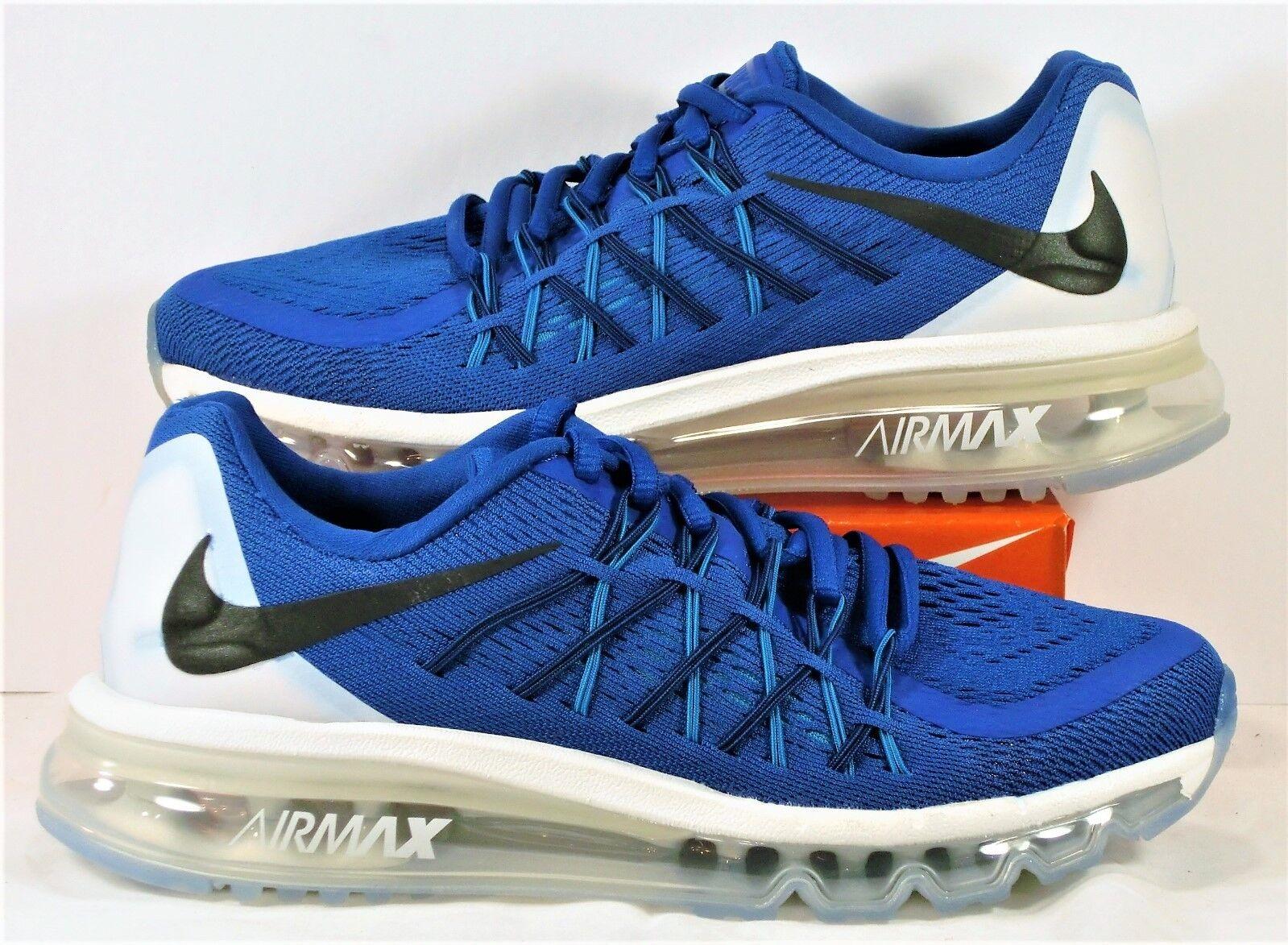 Nike Air Max 2015 GS Királyi Kék &Fehér Running Womens 8 Sz 6.5Y ÚJ 705457 401