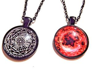 Black occult pendant necklace sacred geometry heptagram star chart image is loading black occult pendant necklace sacred geometry heptagram star aloadofball
