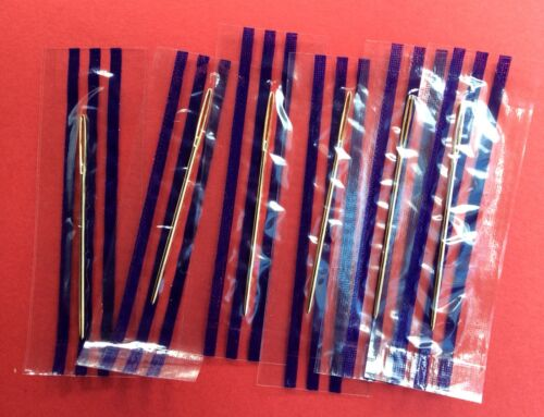 Size 22 Gold Plated Needles 6 per pack