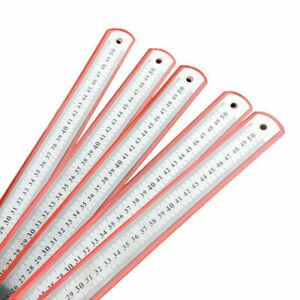 New-Stainlessteel-Doubleided-Metric-Ruler-Measuring-Hot-Nice-Sale-B2T6