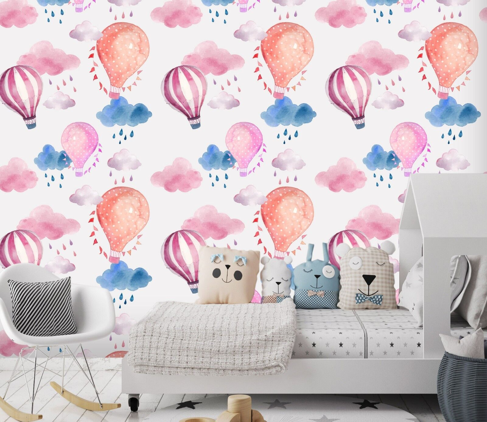 3D Hot Balloon Clouds 455 Wallpaper Murals Wall Print Wallpaper Mural AJ WALL AU