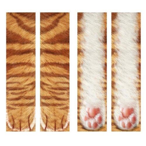 Drôle d/'impression 3D Pied Chaussettes Animal Paw pieds Drôle Unisexe Enfants Adultes élastique UK