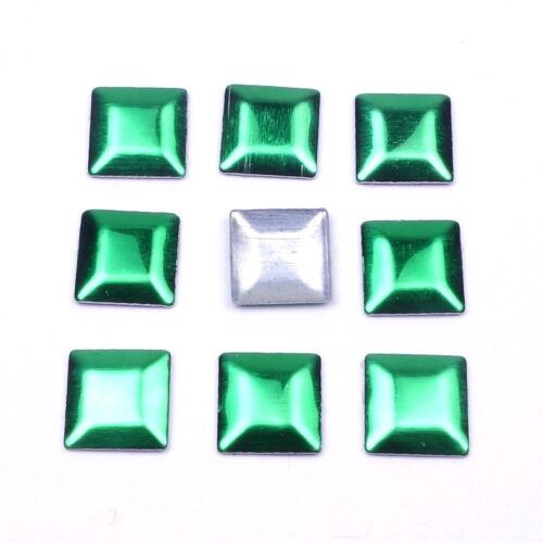 200 Hotfix Nailheads Quadrat 4mm Farbwahl Bügel-Nieten Studs zum Aufbügeln