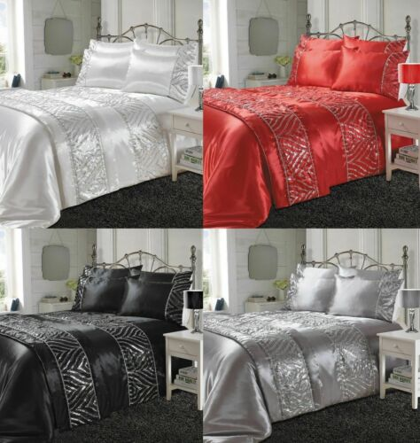 New Glamorous Luxurious Duvet Cover Sets Bedding Sets Runners All Sizes Avail