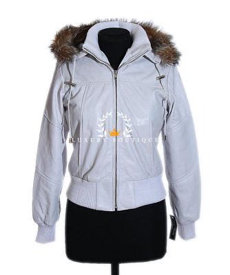 Matilda Black Ladies New Fur Hooded Designer Real Lambskin Leather Bomber Jacket