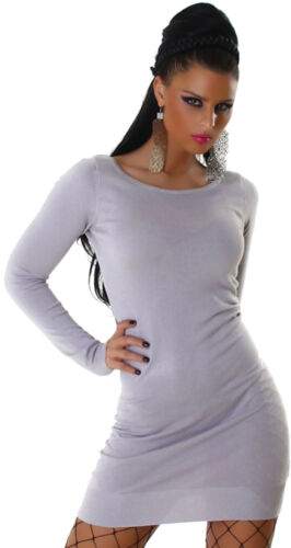 Strickkleid Long Pullover Sweater Damen Winter Kleid Einheits-Größe 32 34 36 38