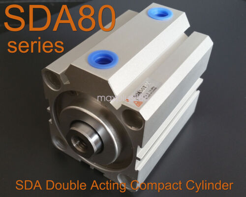 1PCS SDA80x50 SDA80-50mm compacto de doble efecto Neumático Cilindro de aire