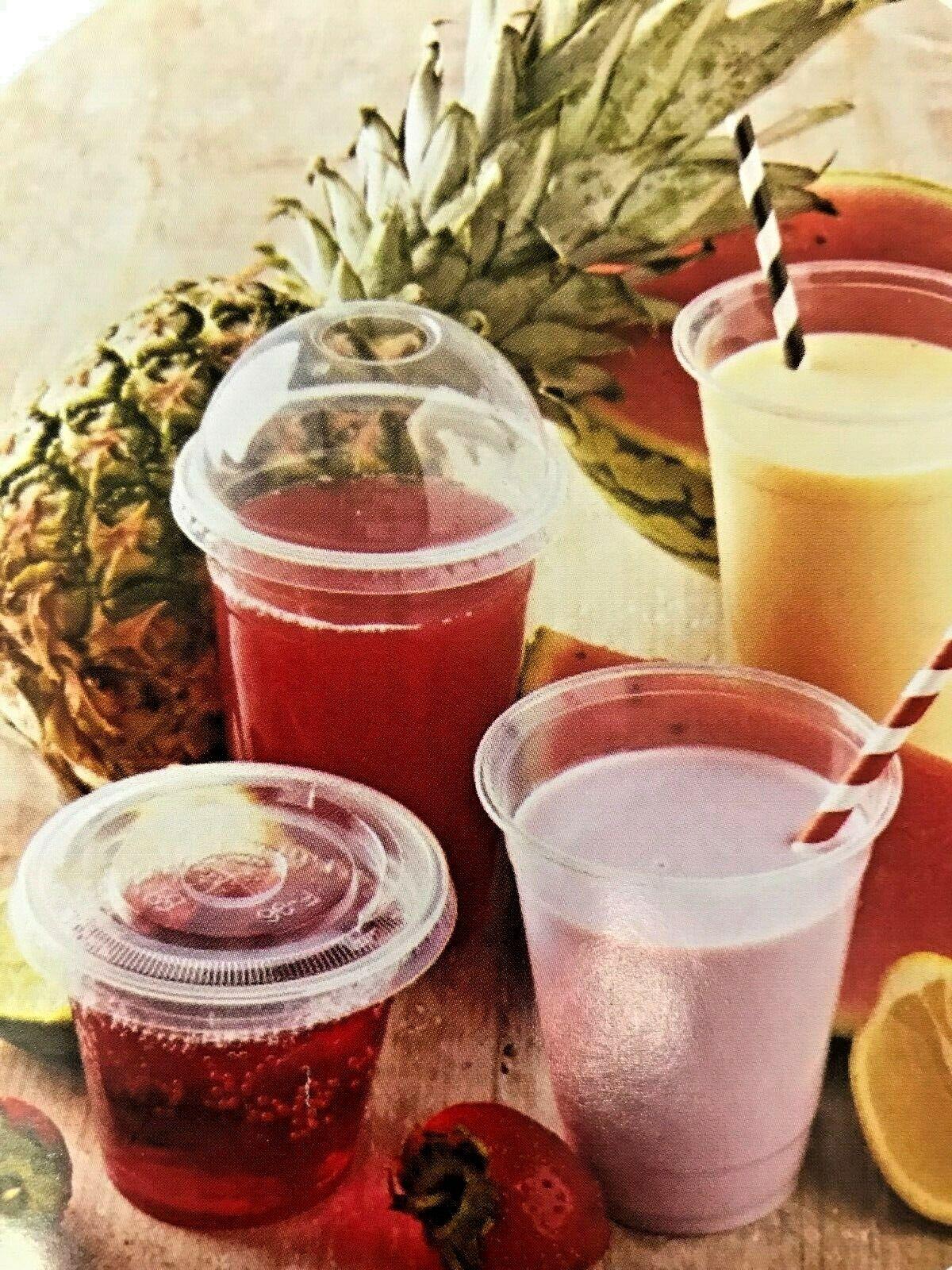 16oz Compostable Biodegradable Smoothie-Milkshake-sweets Cups & LidsBIO750B D E